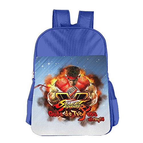 FUOALF Street Fighter V Kids Children Boys Girls Shoulder Bag School Backpack Bags (Street Fighter Nintendo Wii)