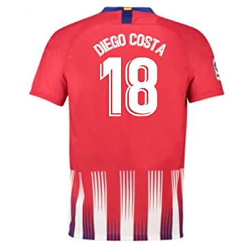 2018-2019 Atletico Madrid Home Nike Football Soccer T-Shirt Camiseta (Diego Costa