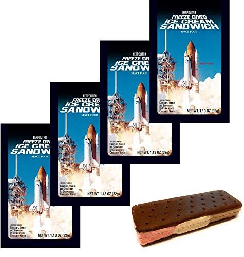 Astronaut Ice Cream Freeze Dried Neapolitan Sandwich (Chocolate-Vanilla-Strawberry) - 4 Pack