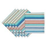 Design Imports Seashore Stripe Napkin (Set of 6)