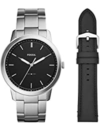 Men's 'The Minimalist 3H' Quartz Stainless Steel Casual Watch, Color:Silver-Toned (Model: FS5451SET)