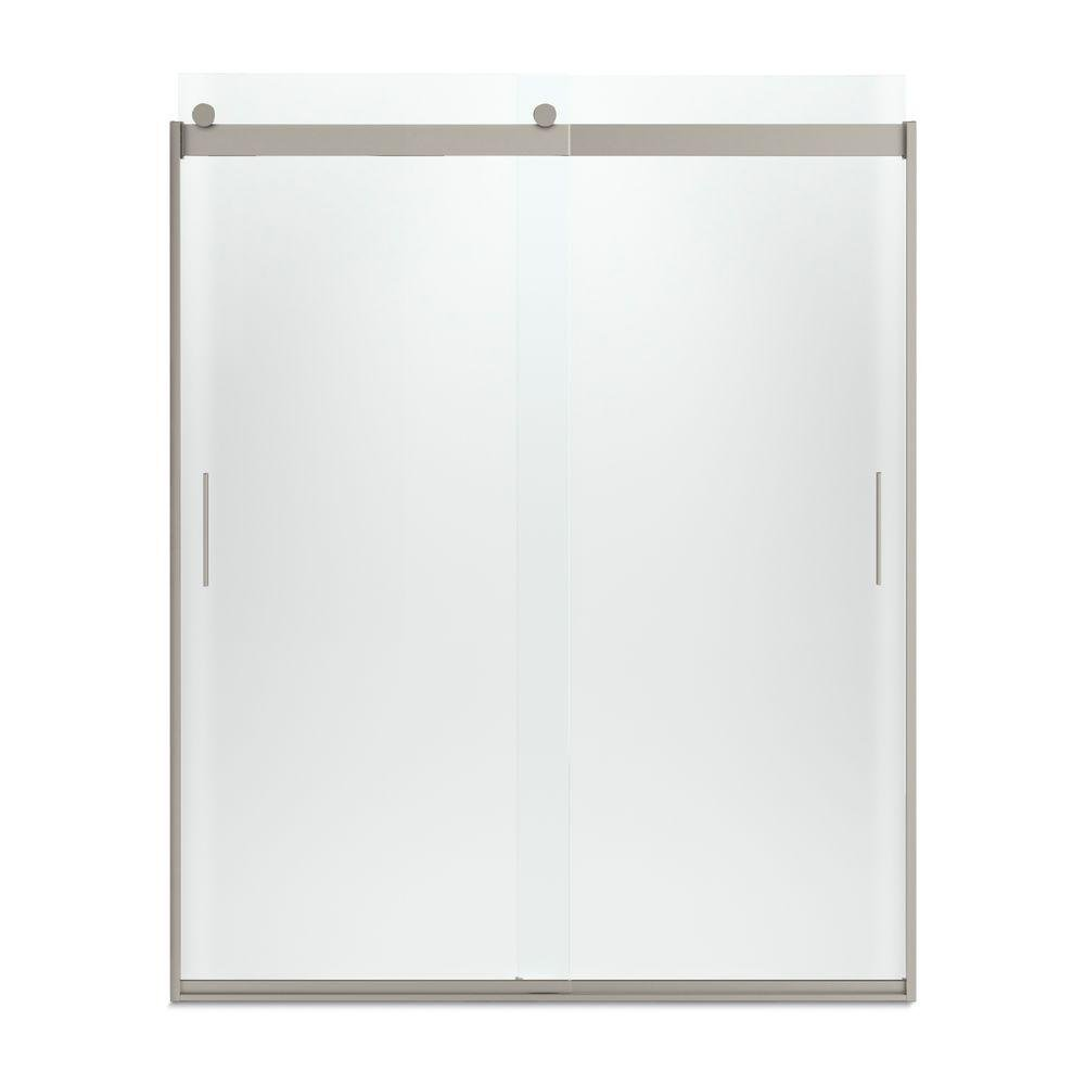 70%OFF KOHLER K-706009-D3-MX Levity  Bypass Shower Door with Handle and 1/4-Inch  Frosted Glass in Matte Nickel