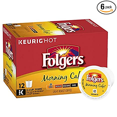 Folgers-Morning-Café,-Mild-Roast-Coffee,-K-Cup-Pods-for-Keurig-K-Cup-Brewers