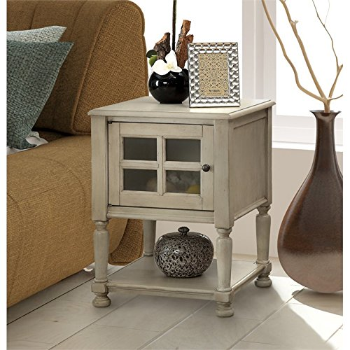 Furniture of America Herlinda End Table in White