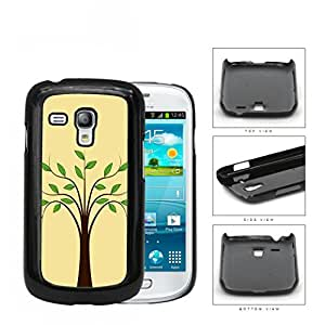 Plain Tree With Green Leaves Hard Plastic Snap On Cell Phone Case Samsung Galaxy S3 SIII Mini I8200