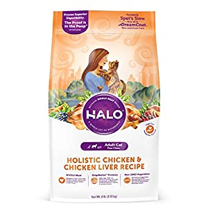 Halo Natural Dry Cat Food, Chicken & Chicken Liver Recipe, 6-Pound Bag 76