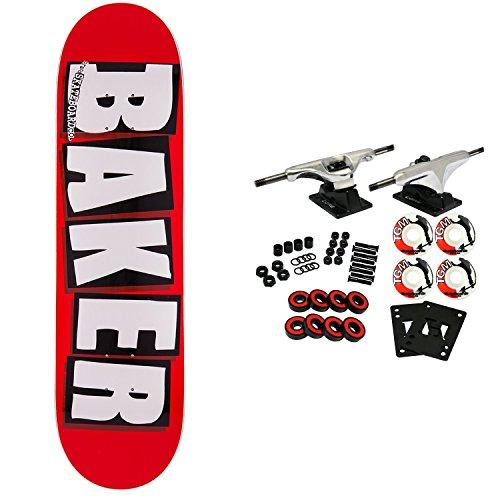Baker Skateboard Complete Logo White 7.56