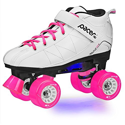 Revive Light-Up Roller Skate - White sz 7 by Pacer