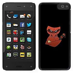 // PHONE CASE GIFT // Duro Estuche protector PC Cáscara Plástico Carcasa Funda Hard Protective Case for Amazon Fire Phone / Mal cigarro mono /