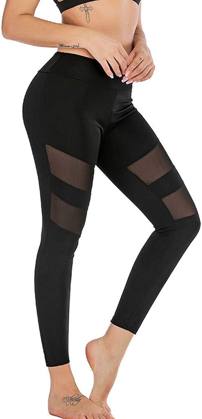 Amazon.com: FONMA Fashion Women Mid Waist Yoga Pants ...