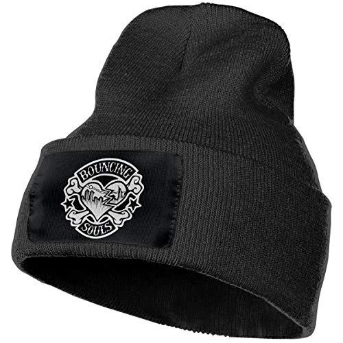 SmallHan Mens & Womens The Bouncing Souls Skull Beanie Hats Winter Knitted Caps Soft Warm Ski Hat Black