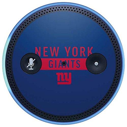 Skinit NFL New York Giants Amazon Echo Plus Skin - New York Giants Blue Performance Series Design - Ultra Thin, Lightweight Vinyl Decal Protection