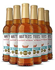 Matteo's Sugar Free Coffee Flavoring Syrup, Cupcake, Delicious Coffee Syrup, 0 Calories, 0 Sugar coffee syrups