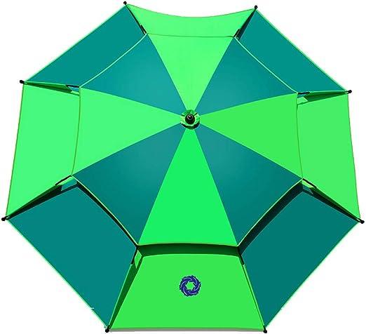 TTPF Sombrillas Grandes Paraguas de Pesca Plegable al Aire Libre Área Grande A Prueba de Lluvia Paraguas Universal Espesar Protección Solar Sombrilla de Golf 2.6 Metros Jardín Playa: Amazon.es: Hogar
