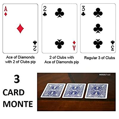 Bicycle Blue Back 3 Card Monte Magic Trick: Toys & Games