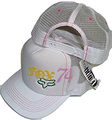 Fox Racing Squared White Womens Trucker Mesh Back Snapback Hat Cap from Fox Racing
