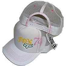 Fox Racing Squared White Womens Trucker Mesh Back Snapback Hat Cap