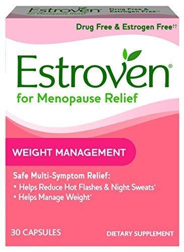 Estroven Weight Management One Per Day Multi-Symptom Menopause Relief Black Cohosh FamilyPack 3Pack (30Count) Cissus Quadrangularis Stem/Leaf Extract-grKGS-Estroven