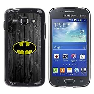 Design for Girls Plastic Cover Case FOR Samsung Galaxy Ace 3 Superhero Bat Wood Retro Vintage OBBA