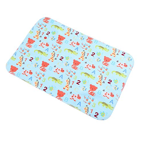 Baby Deluxe Change Pad - Infant Baby Deluxe Flannel And Bamboo Fiber Cotton Change Pad,Waterproof Cartoon Pattern Diaper Changing Pad For Home And Travel (zoo 11.5