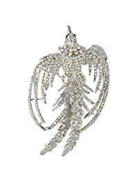Ever Faith Crystal Holiday Gift Flying Phenix Rebirth Brooch Pin