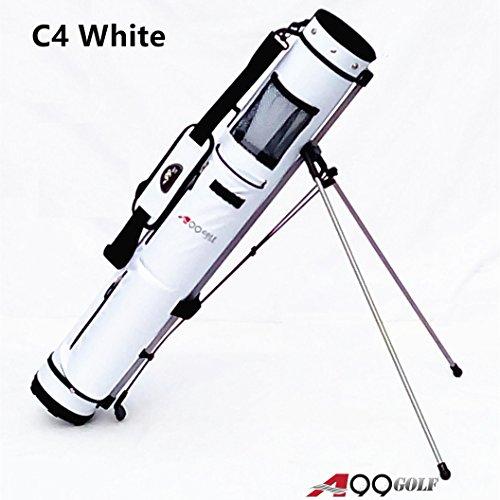 C4 A99 Golf Range Sunday Pencil Carry Pratice Golf Bag w. stand (White/Black Trim) Golf Pencil Bags