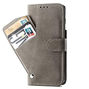 Pirum® Flip Cover for OnePlus 9 Slide Out Wallet Pouch (Khaki)