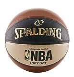 Spalding Men's NBA Instinct Basketball, Orange/Black/Oatmeal, Size 7 (29.5-Inch)
