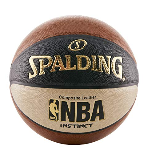 Spalding Men's NBA Instinct Basketball, Orange/Black/Oatmeal, Size 7 (29.5-Inch)