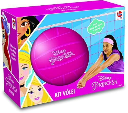 Kit Volley Princesas, Lider Brinquedos, Rosa Lider Brinquedos Rosa