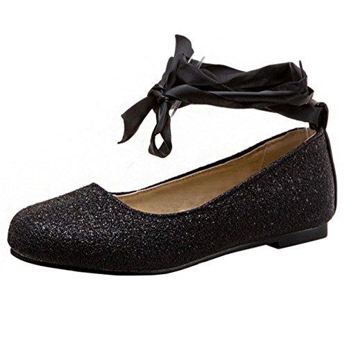 Glitter Ballets Zapatos Negro Flat Daughter Zanpa IRE5qxnSwA