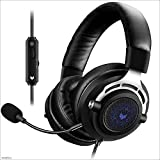Yingui Gaming Headset, Volume Control, with Microphone Noise Reduction LED Lights, for laptops, PCs,