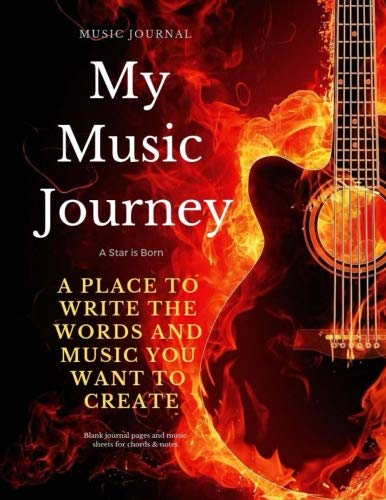 American Idol Sheet Music - Music Journal: My Music Journey: A Star is Born: Blank journal pages and music sheets for chords & notes.