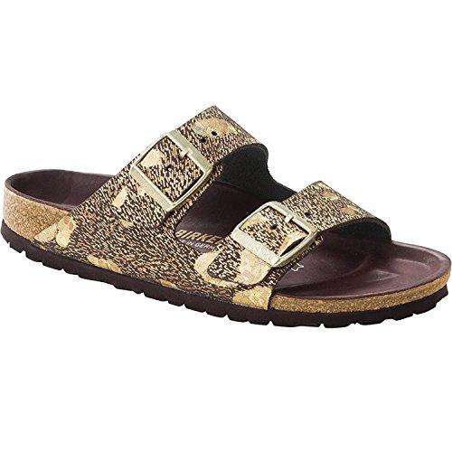 Birkenstock Womens Arizona Lux Slide Sandal Spotted Metallic Brown Size 36 N EU (5-5.5 N US Women)