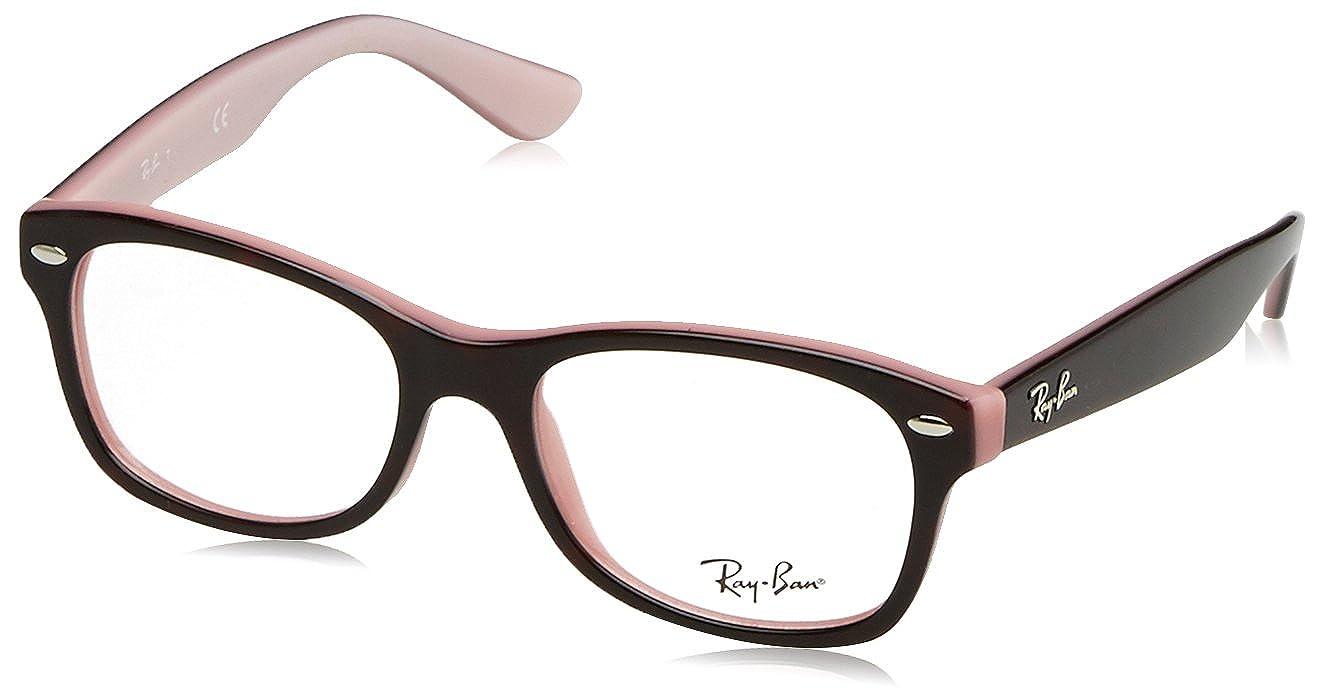 aada657dcd Amazon.com  Ray-Ban Junior Unisex-Child 48 mm Black Frame Transparent Lens  Wayfarer Glasses  Clothing