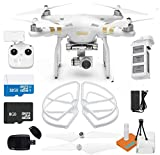 DJI Phantom 3 Professional Pro Drone Copter, Battery, Charger, Prop Set, Remote, Memory Card