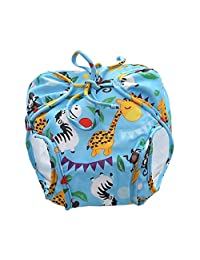 D DOLITY Kids Reusable Swim Diaper Baby Potty Training Pants Waterproof Nappy Cover - Blue(5-8.5KG), as described