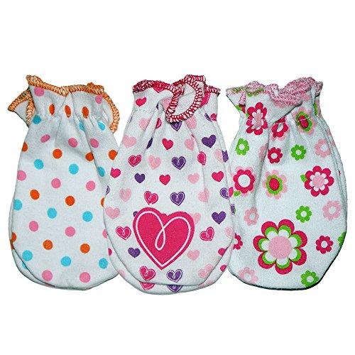 Girls Print No Scratch Mittens - Polka Dots, Hearts, Flowers