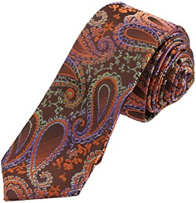 DAE7B.02 Series Patterned Microfiber Skinny Tie Formal Wear Gift By Dan Smith