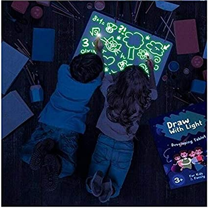 Flnfdsm Pizarra de Pintura 3D Luminosa para niños, Pizarra mágica ...