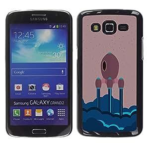 LECELL--Funda protectora / Cubierta / Piel For Samsung Galaxy Grand 2 -- NAVE ESPACIAL MINIMALISTA --