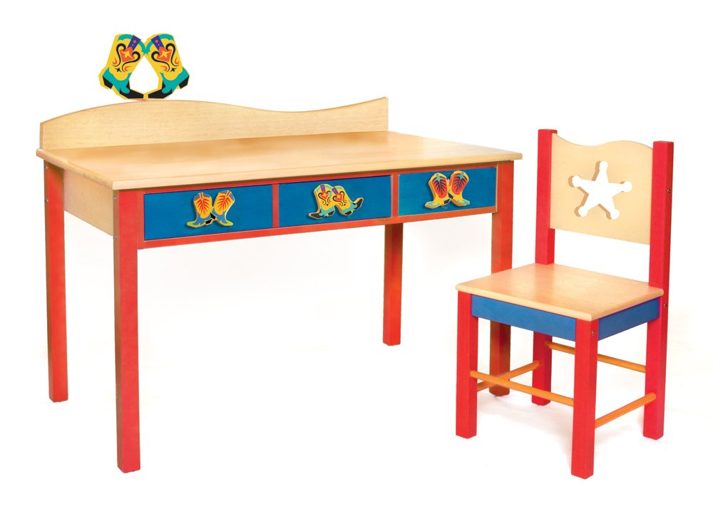 Room Magic Desk/Chair Set, Cowboy Natural