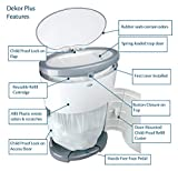 Dekor Plus Hands-Free Diaper Pail | Gray | Easiest