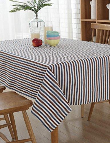 Blue White Homespun Fabric - 2