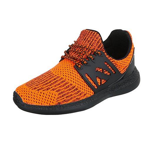 Ital-Design - Zapatillas altas Hombre naranja