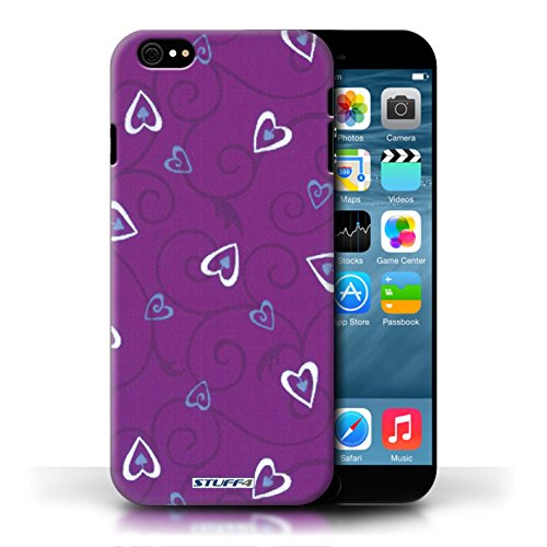 Etui / Coque pour Apple iPhone 6/6S / Violet/Bleu conception / Collection de Coeur Vigne Motif