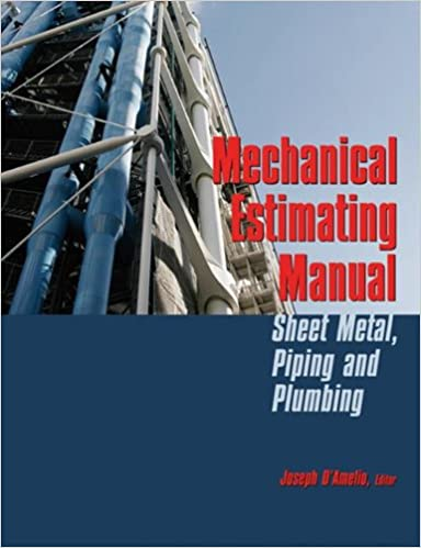 Book Mechanical Estimating Manual: Sheet Metal, Piping and Plumbing