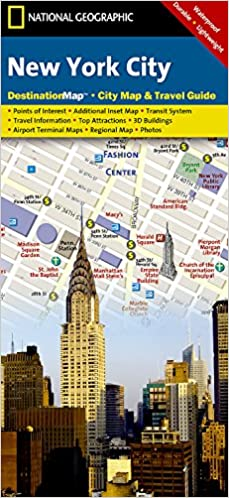Map Of New York City Tourist Sites.New York City National Geographic Destination City Map National
