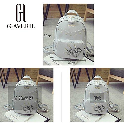G-AVERIL GA1099-G - Bolso mochila  para mujer gris gris negro