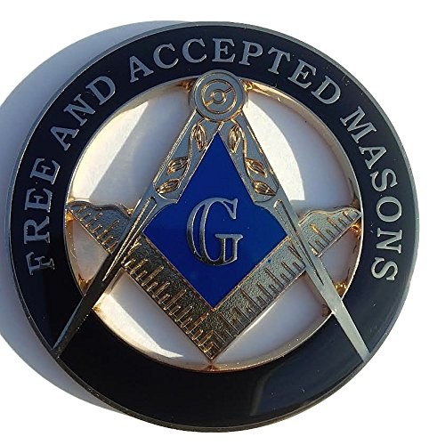 (Masonic F&AM Freemasonry Masons Cut Out Heavy Alloy Car Black Auto Emblem )